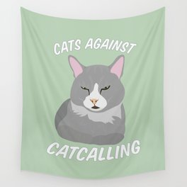 Cats Against Catcalling Wall Tapestry