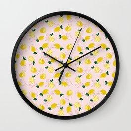 Lemon Vibes Wall Clock