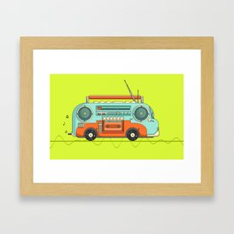 The Music Bus Framed Art Print