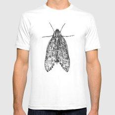 moth Mens Fitted Tee White MEDIUM