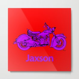 Indian motorcycle - Red and purple Metal Print