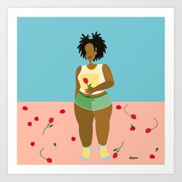 Baby locs - Roses for Shawnte Art Print