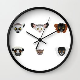 Lemurs Wall Clock