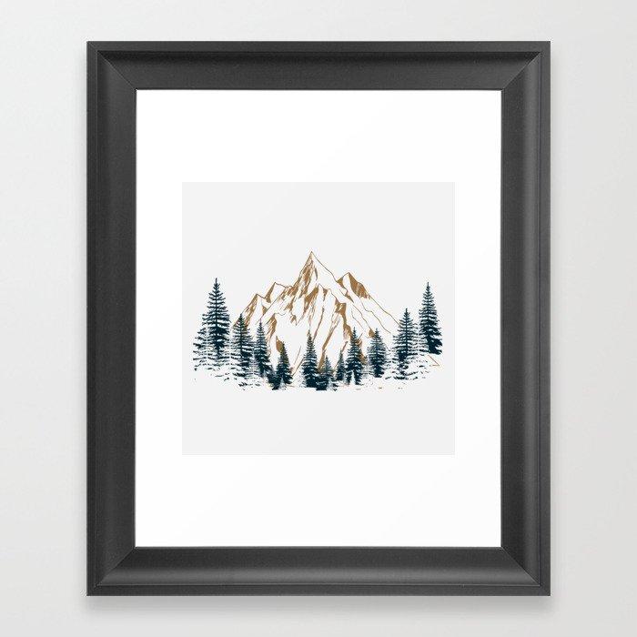 mountain # 4 Gerahmter Kunstdruck