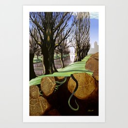 Avon River, Christchurch Art Print