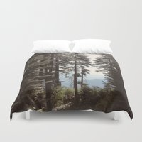 california Duvet Covers featuring California by Katie Corley