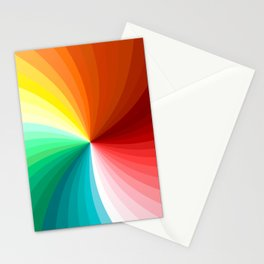 Multi Color Abstract Design Stationery Cards