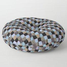 Rustic Brown Multicolored Black Patchwork Floor Pillow