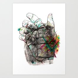 Sheeps Tor Art Print
