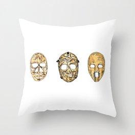 Fibreglass Masks 2 Throw Pillow