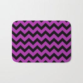 Chevron (Black & Purple Pattern) Bath Mat