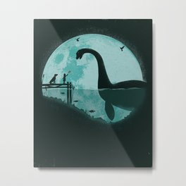 Encounter Under a Blue Moon Metal Print