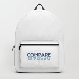 To compare is to despair Backpack