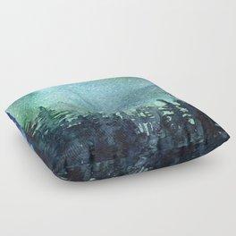 Galaxy Watercolor Space Night Sky Nebula Painting Aurora Floor Pillow