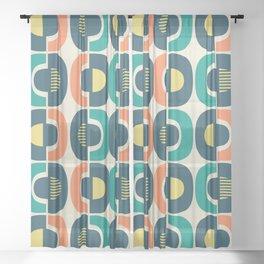 Retro Mid Century Modern Pattern 340 Sheer Curtain