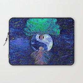Tree of Life Yin Yang Earth Space Laptop Sleeve