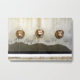 Three Lions Fountain Metal Print