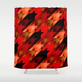 hellhoundstooth Shower Curtain