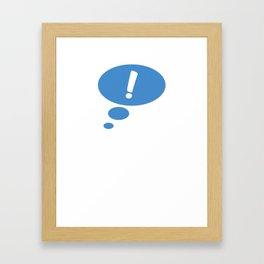 Thought Bubble! Framed Art Print