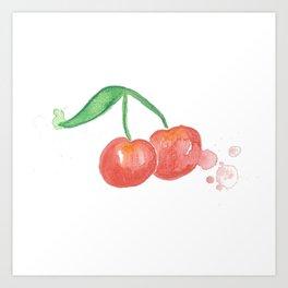 Cherry Bomb Art Print