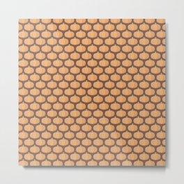 Sweet Pumpkin Pattern Metal Print