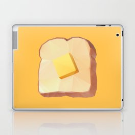 Toast with Butter polygon art Laptop & iPad Skin