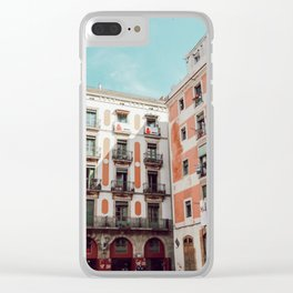 Bright buildings of Spain Clear iPhone Case