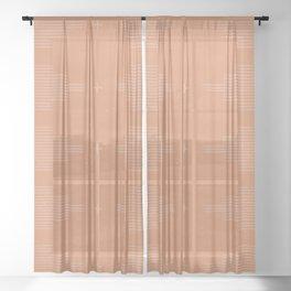 Southwestern Minimalist Terra Cotta  Sheer Curtain
