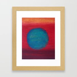 Dive in to Red Framed Art Print