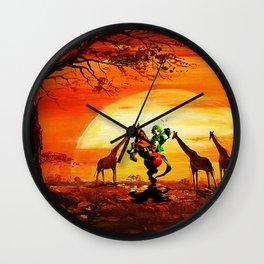 african desert Wall Clock