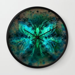 Butterfly Abstract G541 Wall Clock