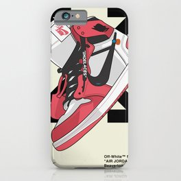 Jordan 1 off white Poster iPhone Case