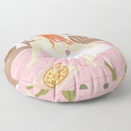 Yoga + Pizza Floor Pillow