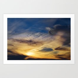 Sunset Trail Art Print