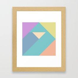 colorful triangular pastel background Framed Art Print