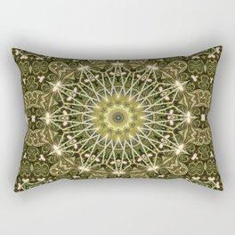 Geometric Forest Mandala Rectangular Pillow