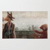 werewolf Area & Throw Rugs featuring Werewolf by Yuko Rabbit