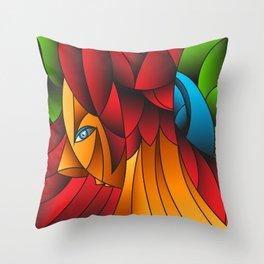 The Queen Cubism Art Throw Pillow
