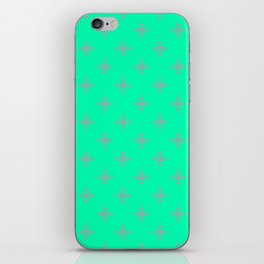 Ornamental Pattern with Mint and Grey Colourway iPhone Skin