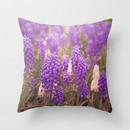 Skagit Valley Muscari Throw Pillow