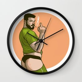 The Smoking Bird Wall Clock