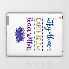 Sky Above Earth Below Peace Within Laptop & iPad Skin