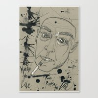 hunter s thompson Canvas Prints featuring Hunter S Thompson by Nicostman