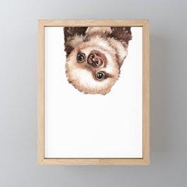 Baby Sloth Framed Mini Art Print