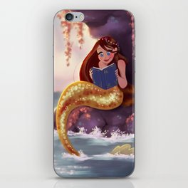 Reading Mermaid iPhone Skin