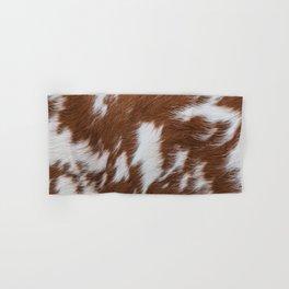 Brown and White Cowhide, Cow Skin Pattern, Farmhouse Decor Hand & Bath Towel