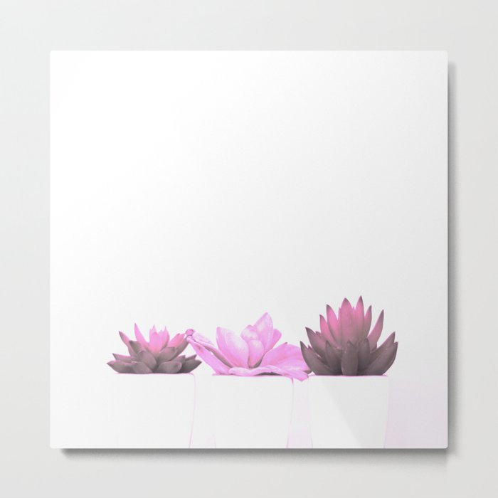 Pink Cactus Metal Print
