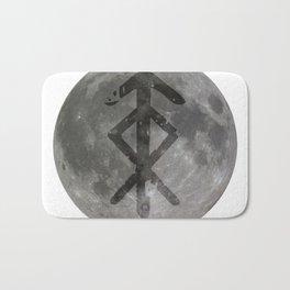 Viking bind rune 'Protection' on moon. Bath Mat