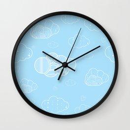 A cloudy sky Wall Clock
