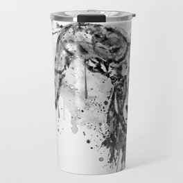 Black and White Half Faced Bighorn Sheep Travel Mug